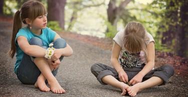 children having a conversation