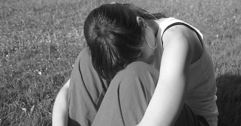 woman feeling alone