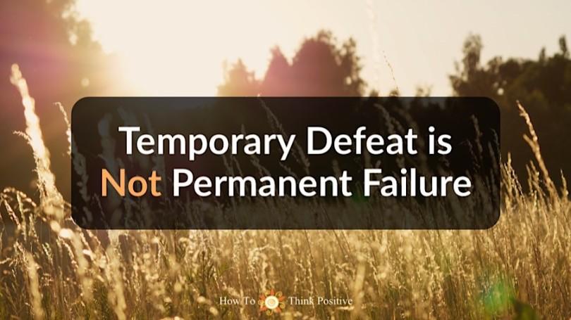 temporary defeat